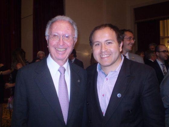 Jorge Luis Di Fiori, presidente de CAC, junto a Raúl Rojas, secretario del CCI.